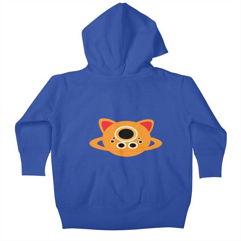 Saturn Cat Design  Kids Baby Zip-Up Hoody by Rebecca's Artist Shop
