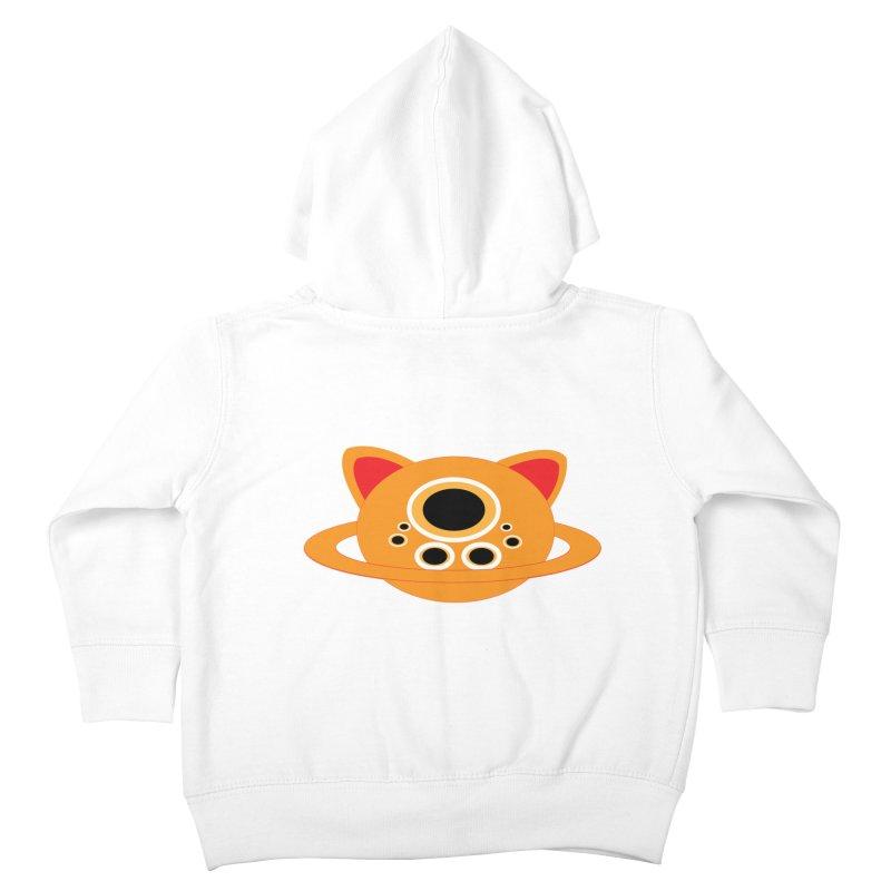 Saturn Cat Design  Kids Toddler Zip-Up Hoody by Rebecca's Artist Shop