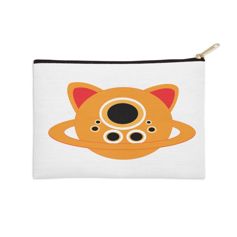 Saturn Cat Design  Accessories Zip Pouch by Rebecca's Artist Shop