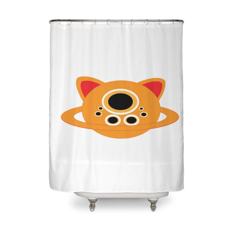 Saturn Cat Design  Home Shower Curtain by Rebecca's Artist Shop