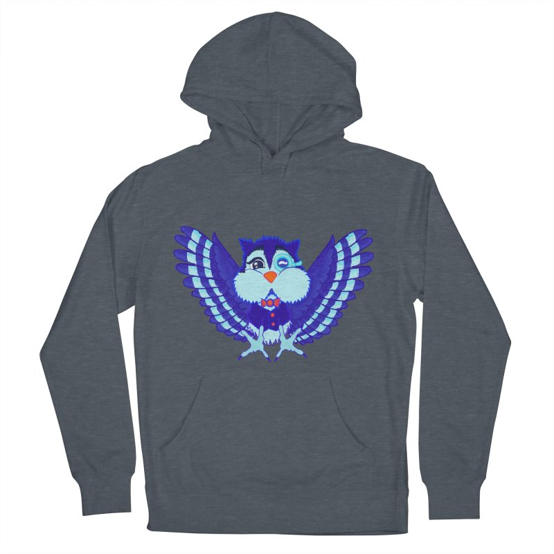 Owl Redesign  Men's Pullover Hoody by Rebecca's Artist Shop