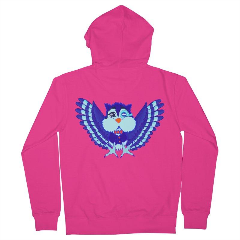 Owl Redesign  Men's Zip-Up Hoody by Rebecca's Artist Shop