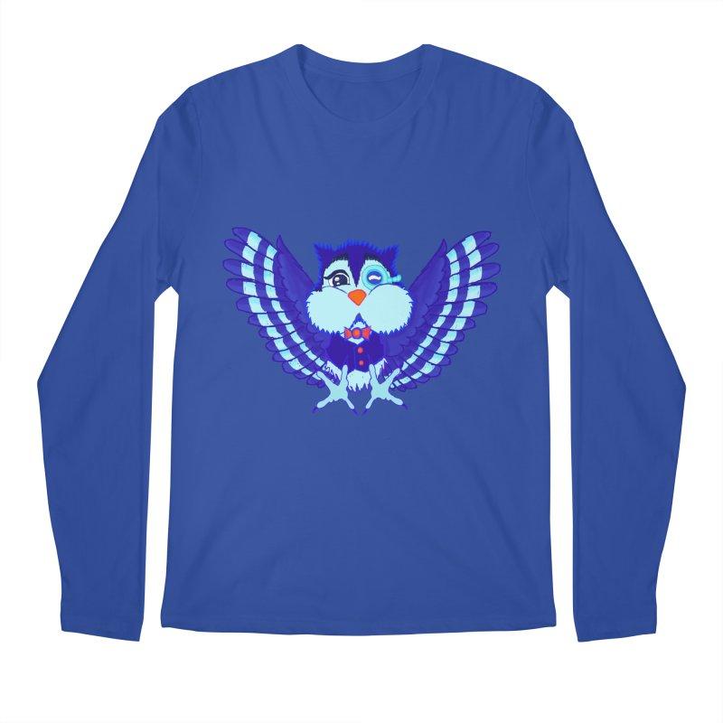 Owl Redesign  Men's Longsleeve T-Shirt by Rebecca's Artist Shop