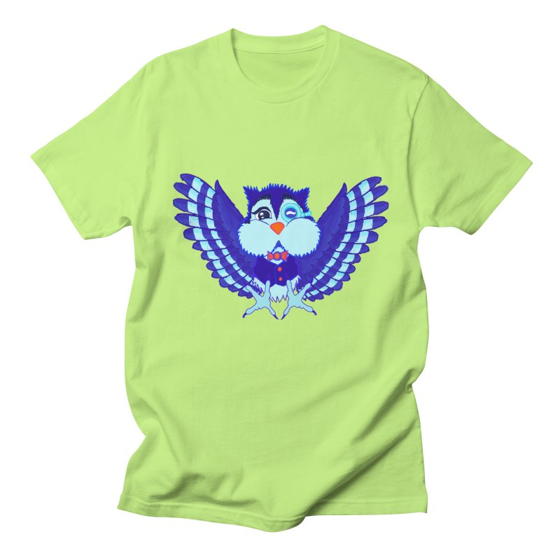 Owl Redesign  Men's T-shirt by Rebecca's Artist Shop