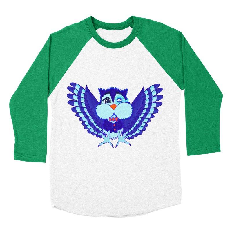 Owl Redesign  Women's Baseball Triblend T-Shirt by Rebecca's Artist Shop