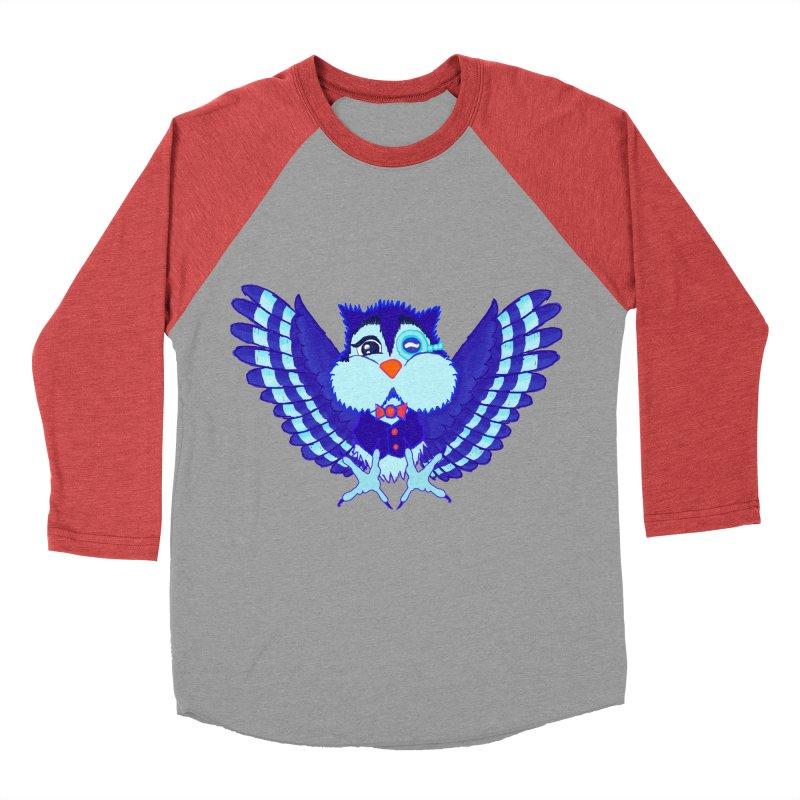 Owl Redesign  Men's Baseball Triblend T-Shirt by Rebecca's Artist Shop