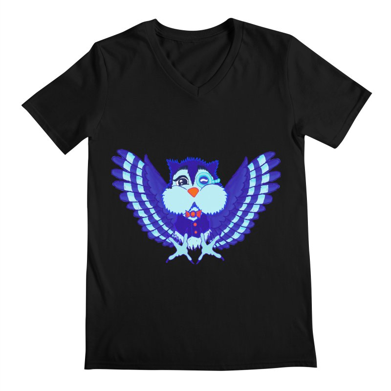 Owl Redesign  Men's V-Neck by Rebecca's Artist Shop
