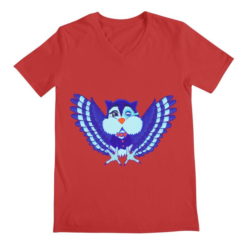 Owl Redesign  Men's V-Neck by Rebecca's Artist Shop
