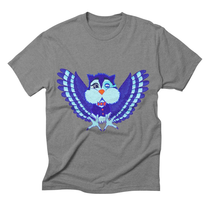 Owl Redesign  Men's Triblend T-shirt by Rebecca's Artist Shop
