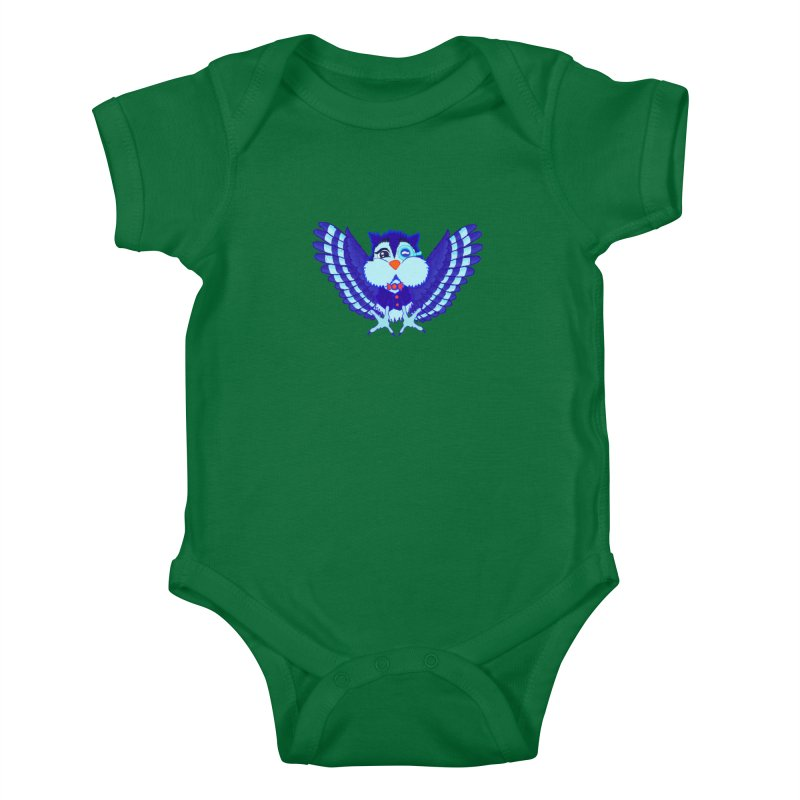 Owl Redesign  Kids Baby Bodysuit by Rebecca's Artist Shop