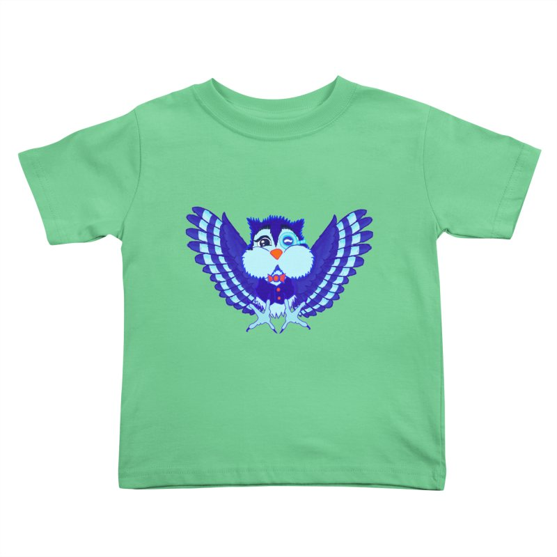 Owl Redesign  Kids Toddler T-Shirt by Rebecca's Artist Shop