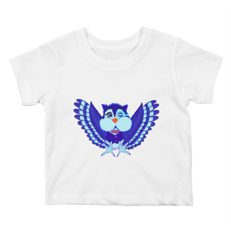 Owl Redesign  Kids Baby T-Shirt by Rebecca's Artist Shop