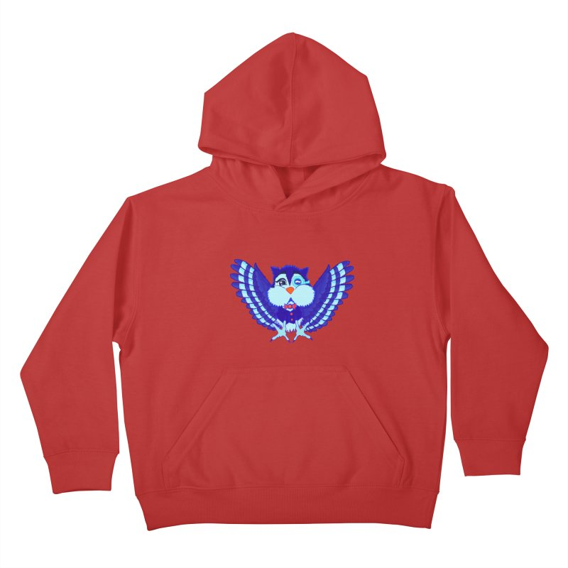 Owl Redesign  Kids Pullover Hoody by Rebecca's Artist Shop