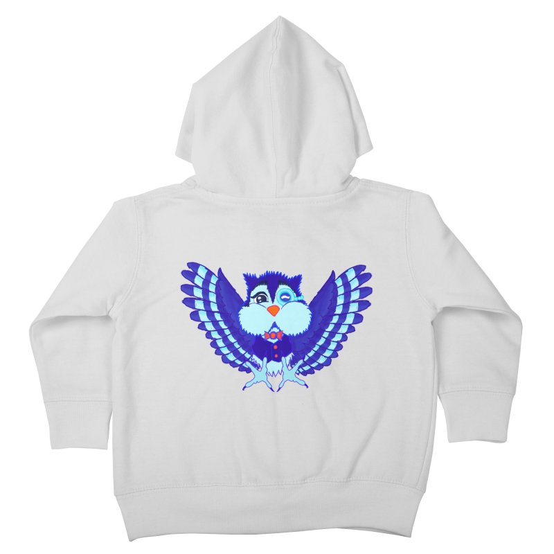 Owl Redesign  Kids Toddler Zip-Up Hoody by Rebecca's Artist Shop