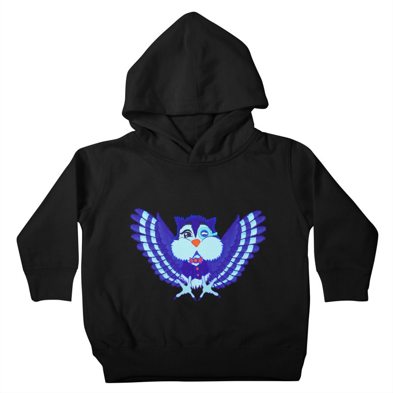 Owl Redesign  Kids Toddler Pullover Hoody by Rebecca's Artist Shop
