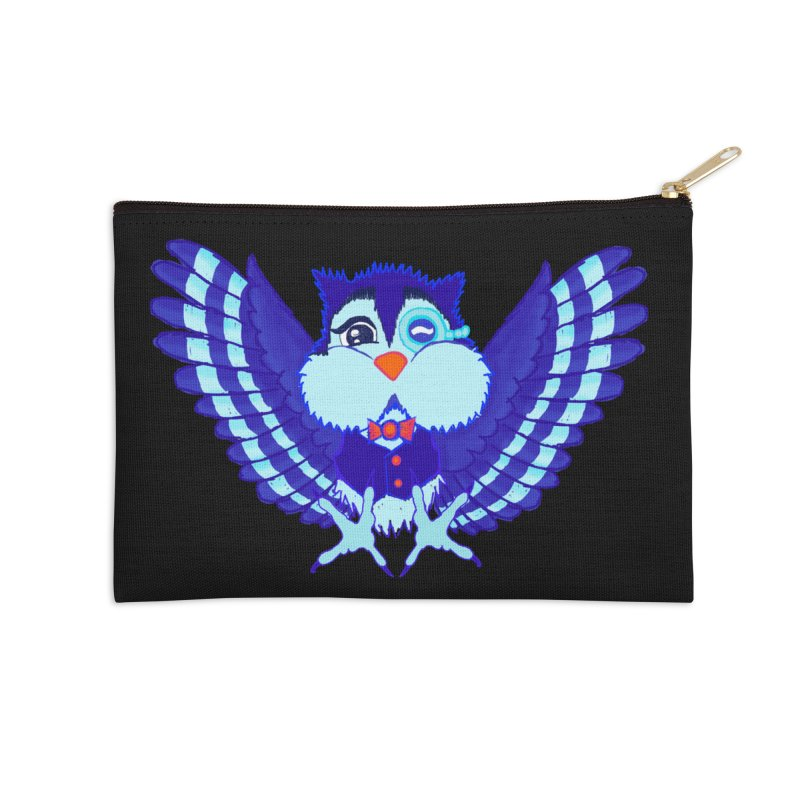 Owl Redesign  Accessories Zip Pouch by Rebecca's Artist Shop
