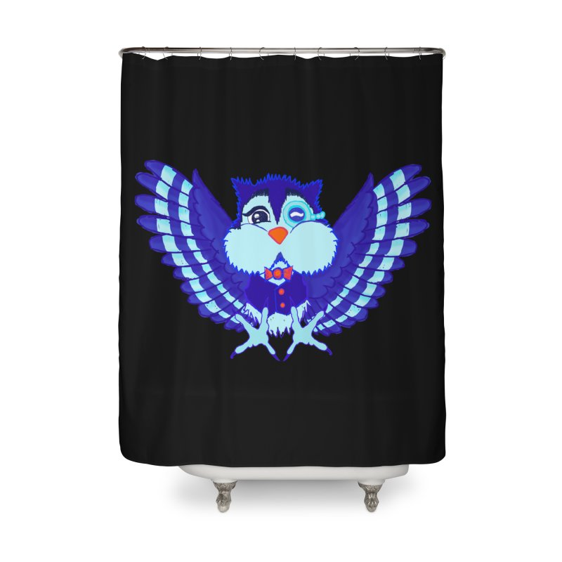 Owl Redesign  Home Shower Curtain by Rebecca's Artist Shop