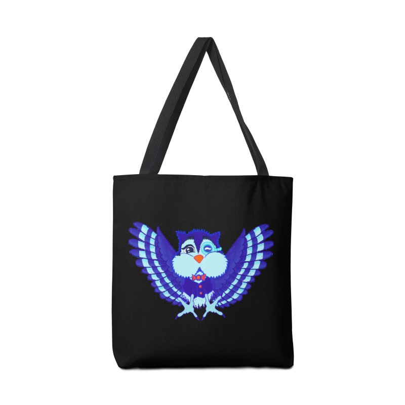 Owl Redesign  Accessories Bag by Rebecca's Artist Shop