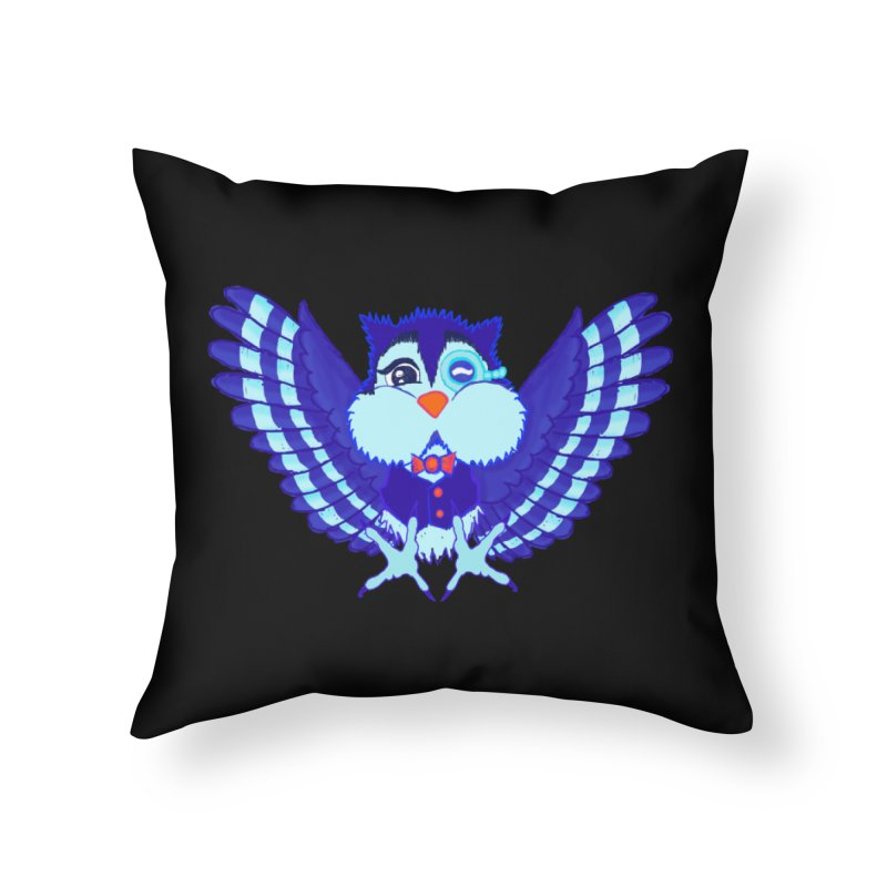 Owl Redesign  Home Throw Pillow by Rebecca's Artist Shop