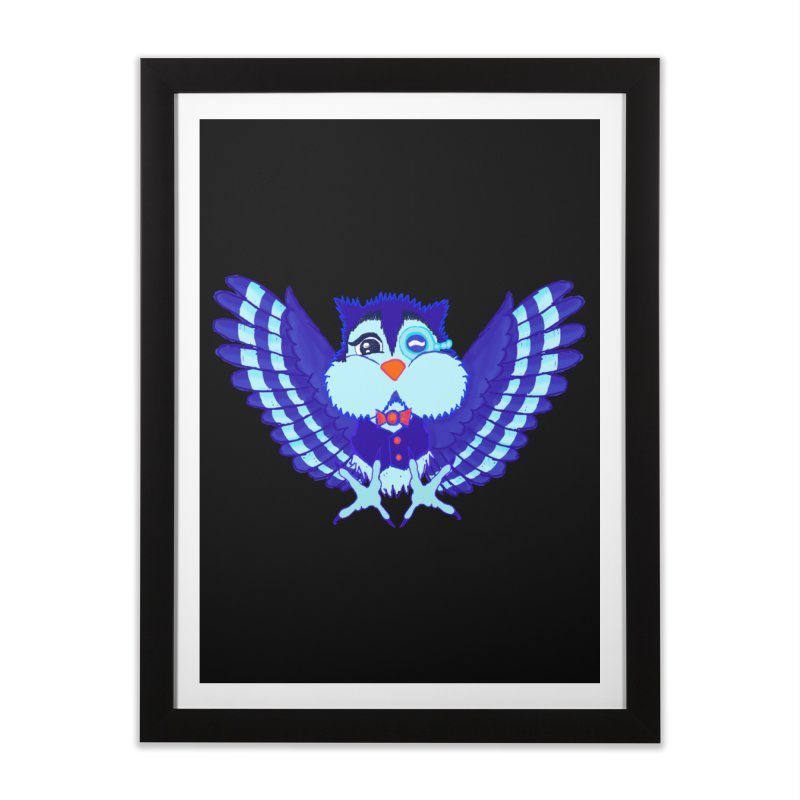 Owl Redesign  Home Framed Fine Art Print by Rebecca's Artist Shop