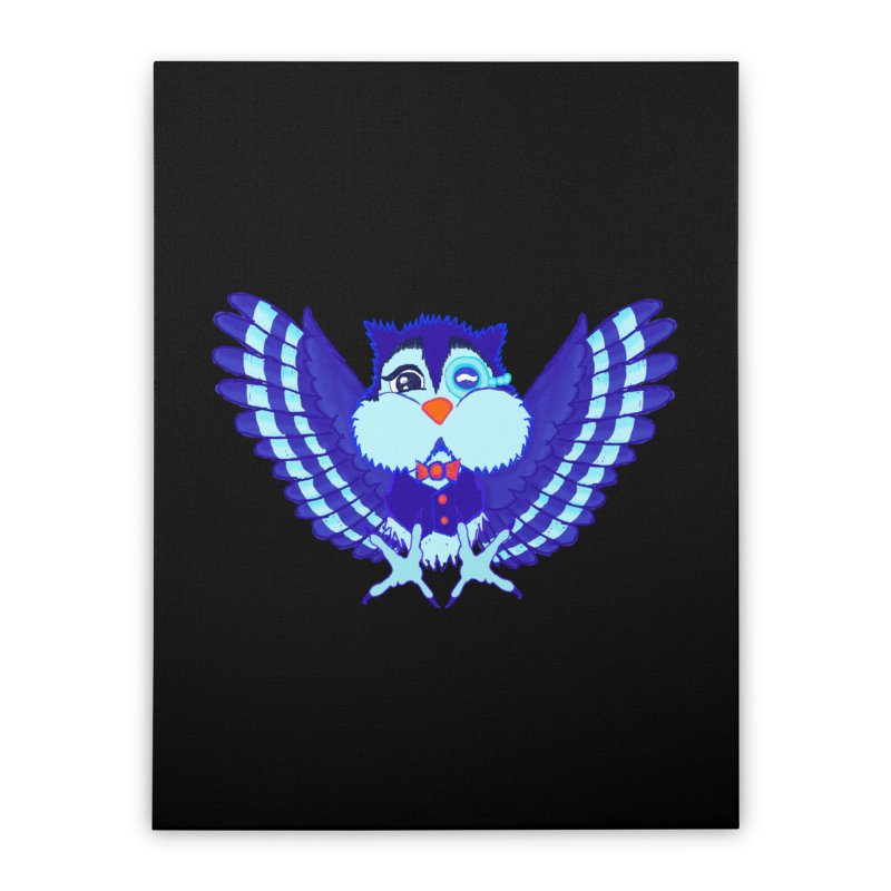 Owl Redesign  Home Stretched Canvas by Rebecca's Artist Shop