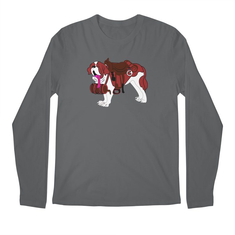 Saint Bernard Men's Longsleeve T-Shirt by Rebecca's Artist Shop