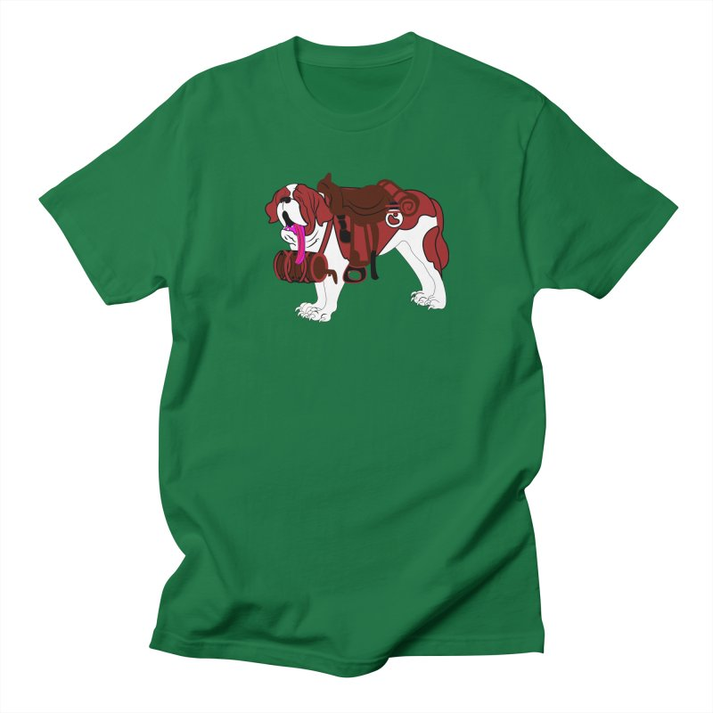 Saint Bernard Men's T-shirt by Rebecca's Artist Shop