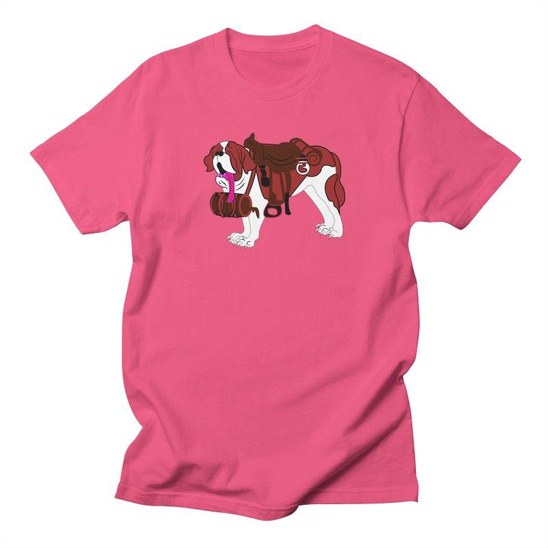 Saint Bernard Men's T-shirt by Rebecca's Artist Shop