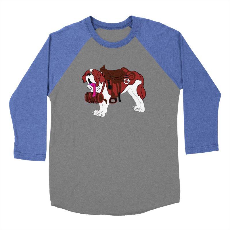 Saint Bernard Men's Baseball Triblend T-Shirt by Rebecca's Artist Shop