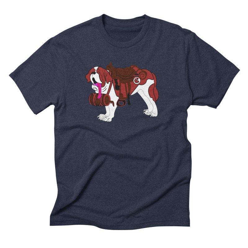 Saint Bernard Men's Triblend T-shirt by Rebecca's Artist Shop