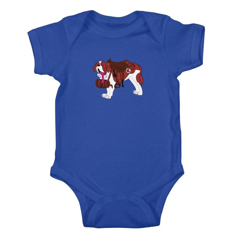 Saint Bernard Kids Baby Bodysuit by Rebecca's Artist Shop