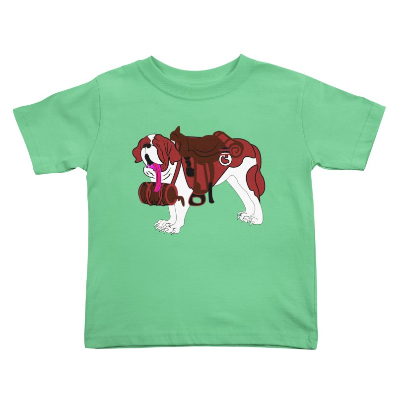 Saint Bernard Kids Toddler T-Shirt by Rebecca's Artist Shop