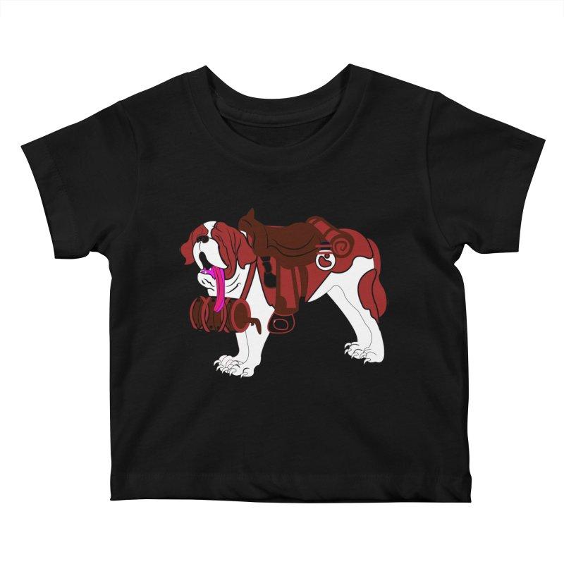 Saint Bernard Kids Baby T-Shirt by Rebecca's Artist Shop