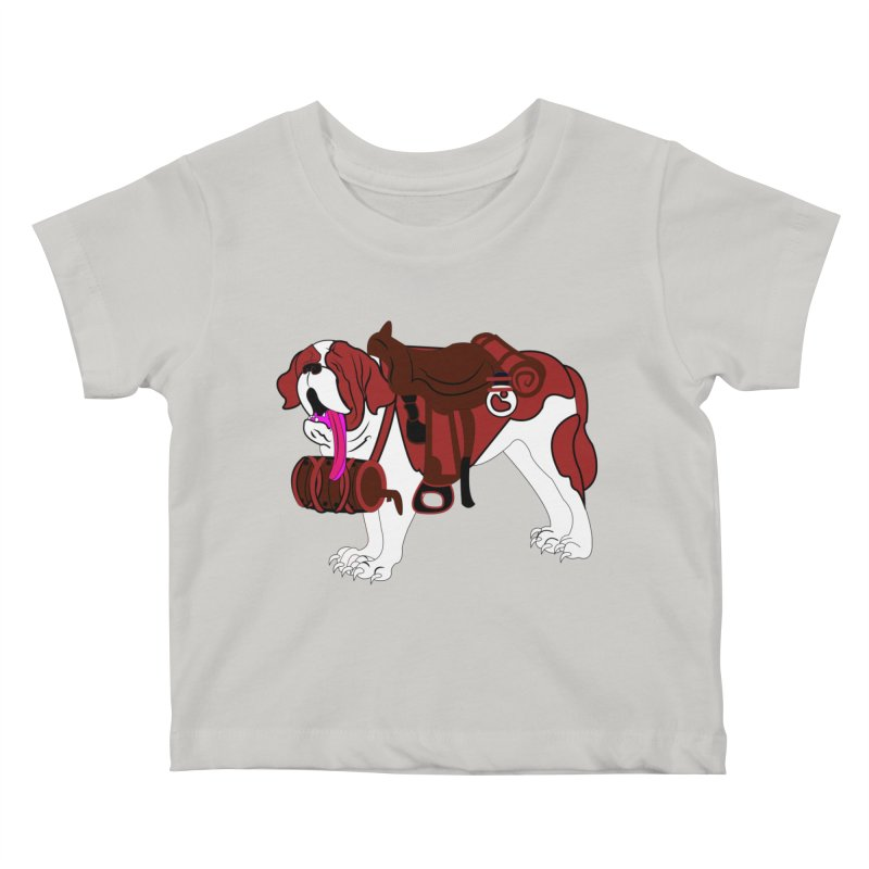 Saint Bernard Kids Baby T-Shirt by Rebecca's Artist Shop