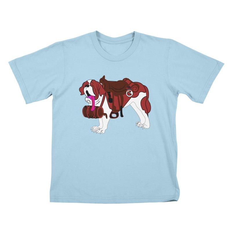 Saint Bernard Kids T-shirt by Rebecca's Artist Shop
