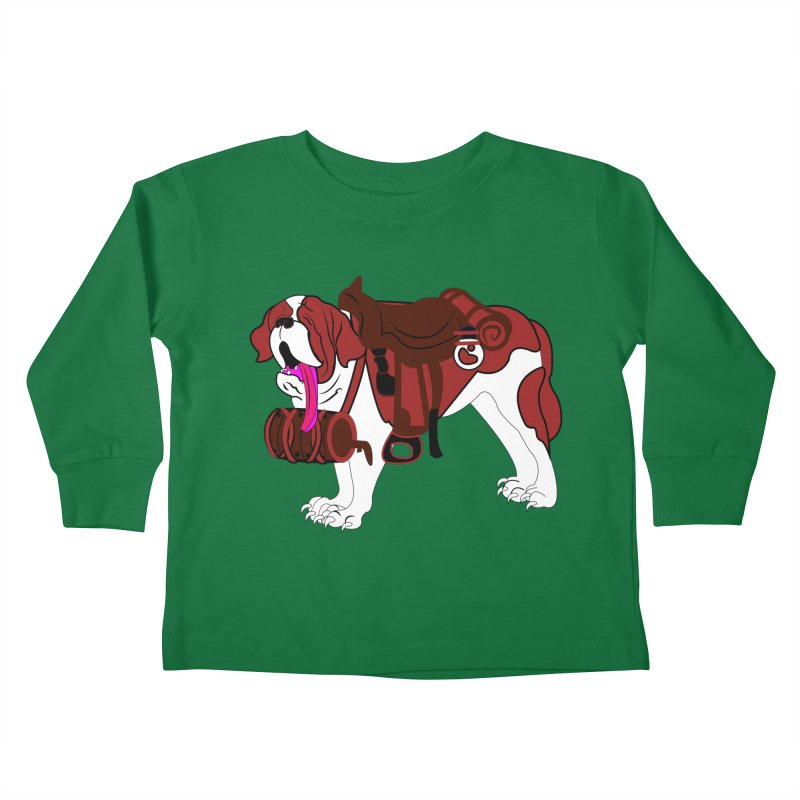 Saint Bernard Kids Toddler Longsleeve T-Shirt by Rebecca's Artist Shop
