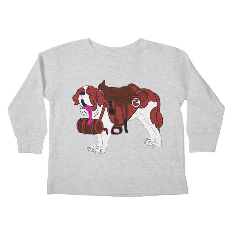 Saint Bernard Kids Toddler Longsleeve T-Shirt by Rebecca's Artist Shop