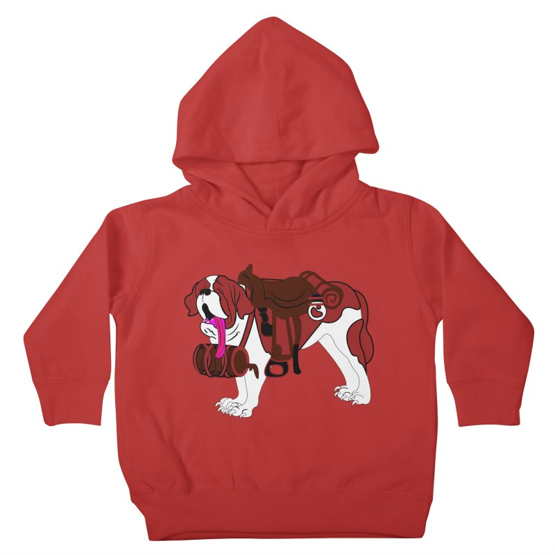 Saint Bernard Kids Toddler Pullover Hoody by Rebecca's Artist Shop