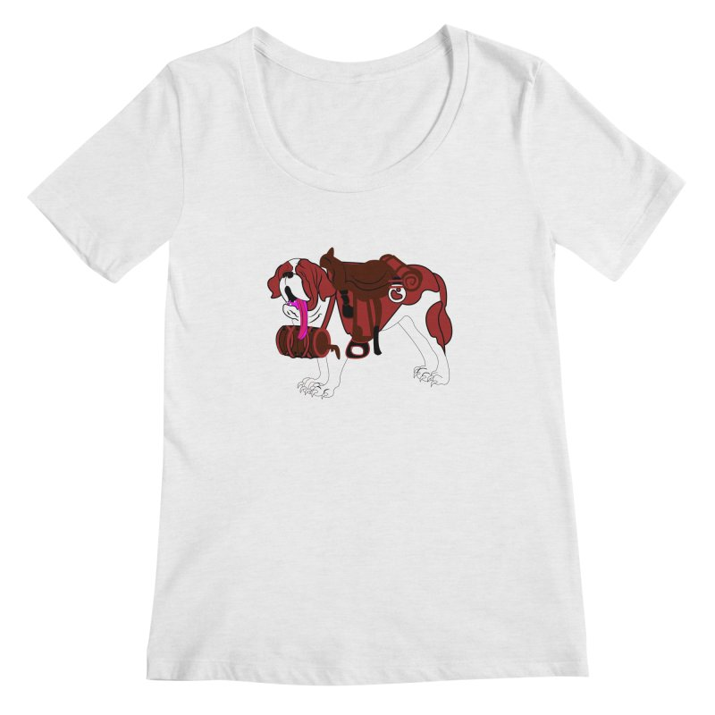 Saint Bernard Women's Scoopneck by Rebecca's Artist Shop