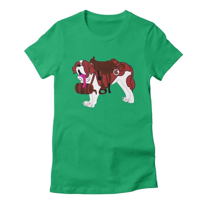 Saint Bernard Women's Fitted T-Shirt by Rebecca's Artist Shop
