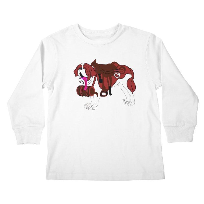 Saint Bernard Kids Longsleeve T-Shirt by Rebecca's Artist Shop
