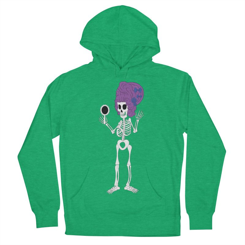 Skully in a Wig Women's Pullover Hoody by Rebecca's Artist Shop