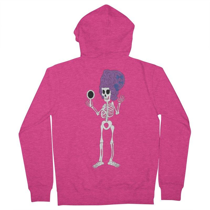 Skully in a Wig Women's Zip-Up Hoody by Rebecca's Artist Shop