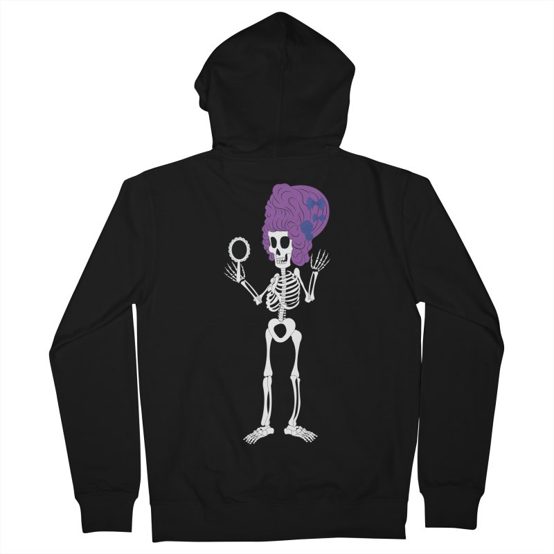 Skully in a Wig Men's Zip-Up Hoody by Rebecca's Artist Shop