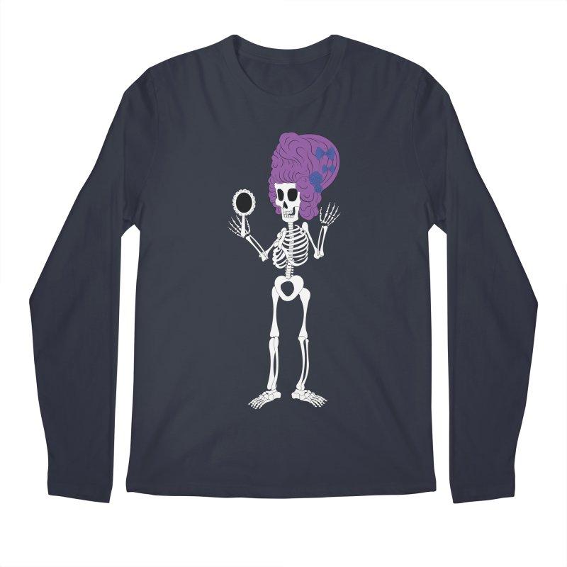 Skully in a Wig Men's Longsleeve T-Shirt by Rebecca's Artist Shop