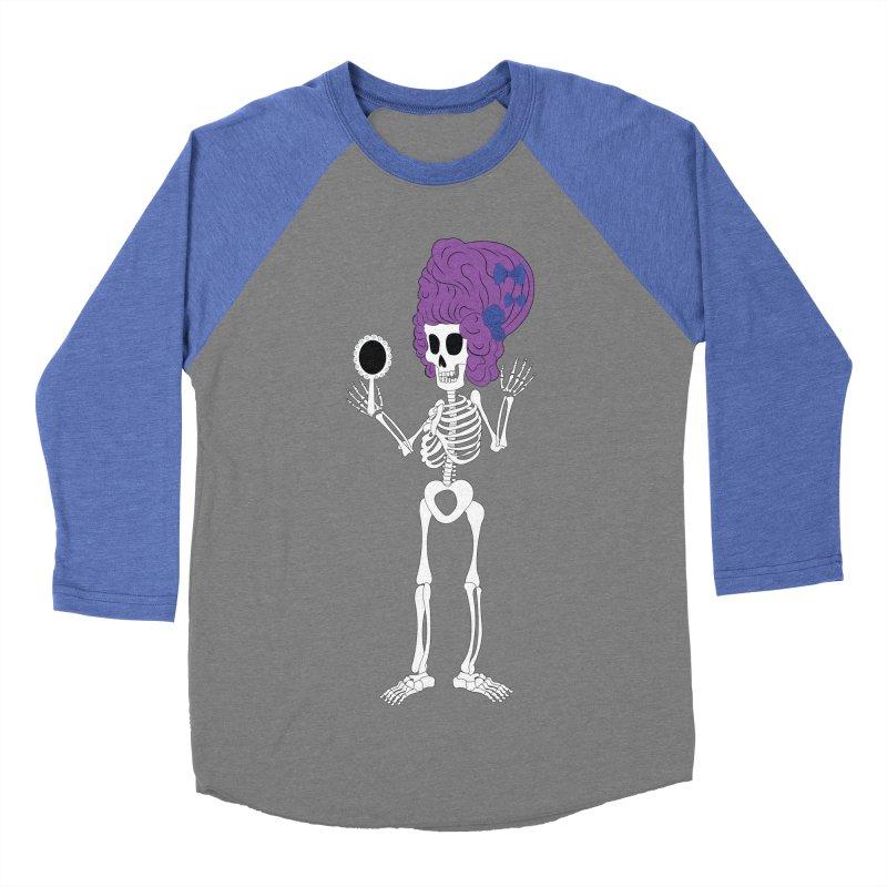 Skully in a Wig Women's Baseball Triblend T-Shirt by Rebecca's Artist Shop