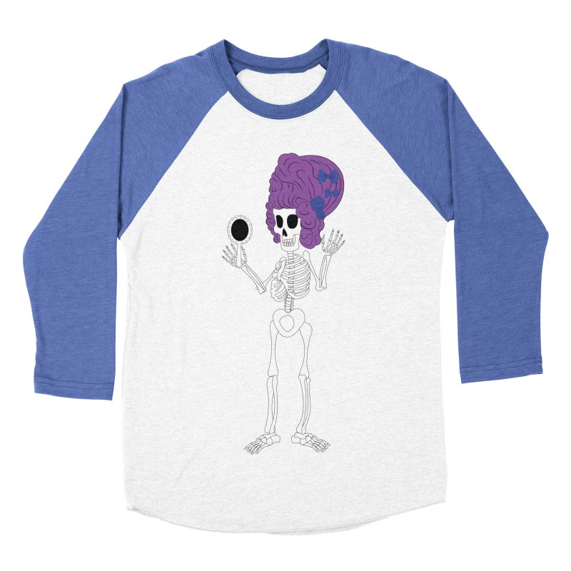 Skully in a Wig Men's Baseball Triblend T-Shirt by Rebecca's Artist Shop