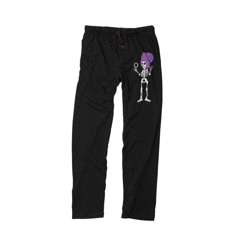 Skully in a Wig Men's Lounge Pants by Rebecca's Artist Shop