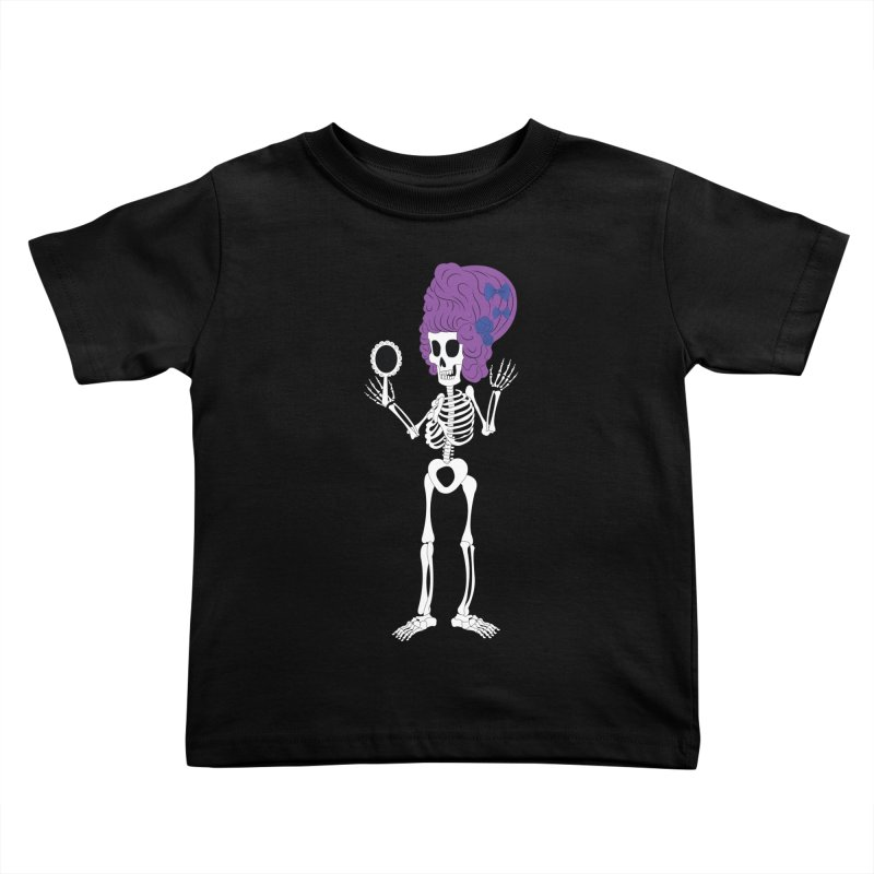 Skully in a Wig Kids Toddler T-Shirt by Rebecca's Artist Shop