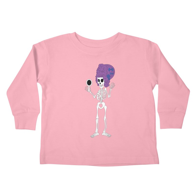Skully in a Wig Kids Toddler Longsleeve T-Shirt by Rebecca's Artist Shop